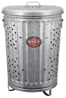 Steel Burning Container Can Garbage Rubbish Compost Barrel Avoid Identity Theft