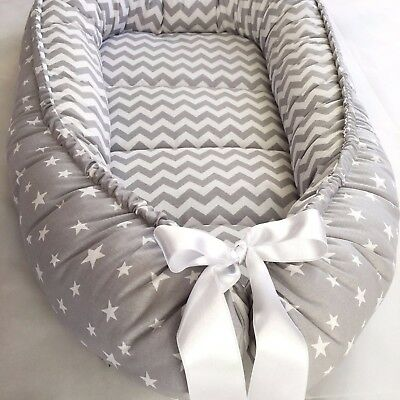 Gray Baby Nest Bed Babynest Sleeper Co Pod Newborn Snuggle Crib Bed Toddler Cot