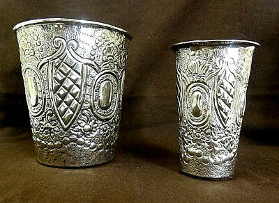 Set of 2 Vintage Ronaldo Maia Ltd. Hand Crafted Cup Vases