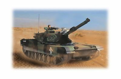 Hobby Engine Remote Control M1A1 Abrams Battle Tank 2DAY SHIP