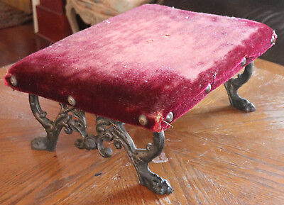 "Antique Cast Iron Foot Stool  18""x13 ""x7.5""tall"