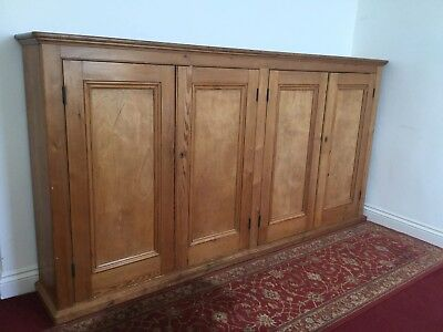 Large Pine Victorian School Bookcase