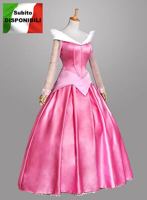 Aurora Vestito Carnevale Donna Dress up Sleeping Beauty Woman Costume AURW02 SD