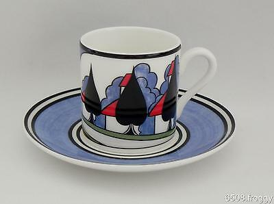 W/WOOD-CLARICE CLIFF-Café Chic Cup/Saucer- MAY AVENUE - Mint Condition