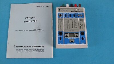DYNATECH NEVADA 214M  PATIENT SIMULATOR 214 (ECG, Respiration, BP, Temperature)