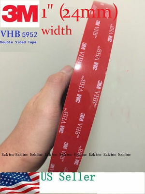 3M VHB #5952 Double-Sided Adhesive Tape 1/2'' 1'' 2'' Width With Custom Length