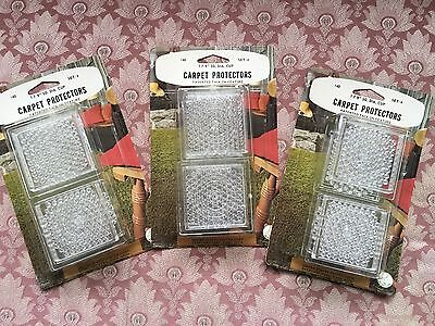 """. NEW OLD STOCK Carpet Protectors 1 7/8"""" Furniture Caster Cups Vintage LOT OF 12"""