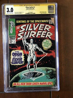 Silver Surfer #1 Cgc 3.0 Signed By Stan Lee Key Issue