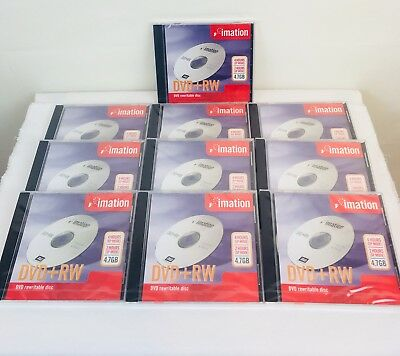 Imation DVD+RW Rewritable Disc  4hrs EP Mode 2 hrs SP Mode 4.7GB Pack of 10