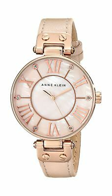 Anne Klein Women's Rose Goldtone Oversized Dial Strap Watch None 2DAY SHIP