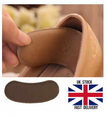 Pairs Extra Sticky Fabric Shoe Heel Inserts Insoles Pads Cushion Grips Strong UK