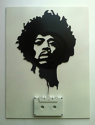 Jimmy hendrix cuadro decorativo vinyl-mixtape Wall art