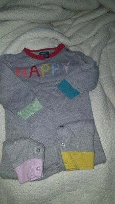 Baby Gap HAPPY one piece sweater outfit size 18-24 months