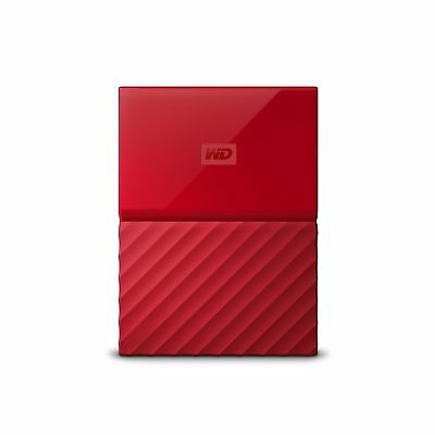 WD 4TB Red My Passport Portable External Hard Drive - USB 3.0 - WDB... 2DAY SHIP
