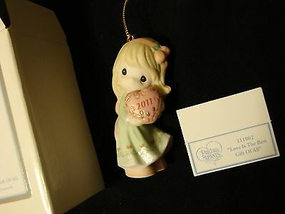 2011 Precious Moments Porcelain Bisque Ornament Love is the Best Gift of All