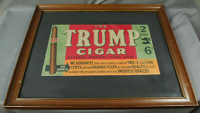 Antique Framed The Trump Cigar Advertisement - Canada's Greatest - W.R. Webster