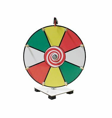 Prize Wheel 12 inch Color Face Classic Wooden Peg Design 2DAY SHIP