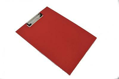 10 x Red Clipboard Single Foolscap PVC A4 SIZE