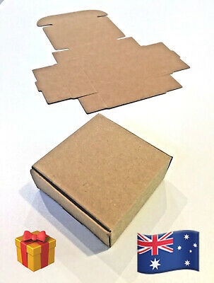 """🎁~x5 RUSTIC (7x7x3cm) """"BROWN"""" GIFT PACKAGING BOXES~PERFECT for SOAP BARS + MORE"""