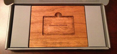 American Express Platinum Welcome Package Amex wood Wooden Cell Phone Stand
