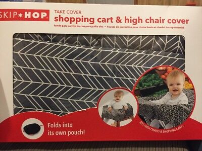 Skip Hop Compact 2-in-1 High Chair/Shopping Cart Cover, Grey Feather, Multi