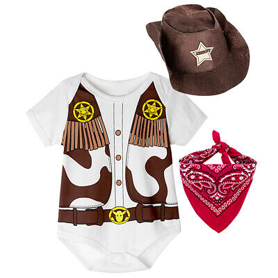 Baby Boys Girls Uniform Costume Bodysuit Newborn Playsuit Funny Cosplay Outfits