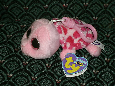 """Ty Beanie Boo 3"""" clip MYRTLE (Pink Turtle) Mint/Mint tag * RARE * Retired"""