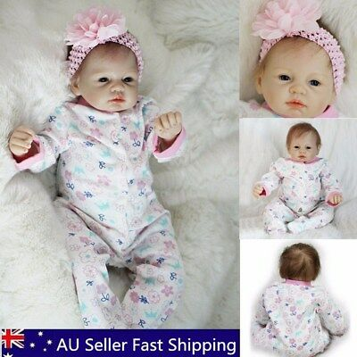 55cm/21inch Handmade Sleeping Toddler Reborn Girl Body Dolls Newborn Baby Toys