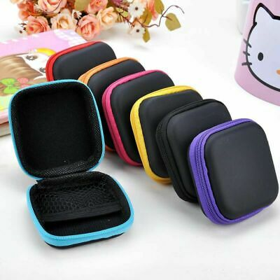 Waterproof Carrying Hard Case Box Headset Earphone Earbud Zipped Pouch Bag