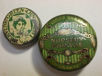 2 Old Chemist Ointment Pomade Tins with Contents.
