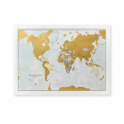 Scratch the World - scratch off your map of the world travel poster... 2DAY SHIP