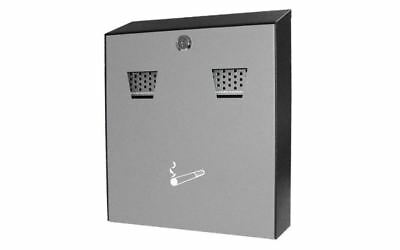 Wall-Mounted Outdoor Cigarette Bin Steel Pub Cafe Restaurant Ashtray Smoking