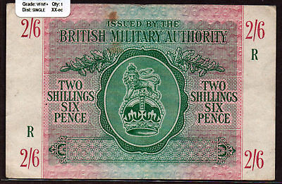 Great Britain Military (1943) 2-Shillings,6-Pence {SINGLE} VF/VF+ Note: M3 [AG]