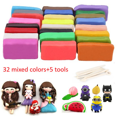 Oven Bake Polymer Clay Block Modelling Moulding Sculpey Tool 650G Set 32 Colour