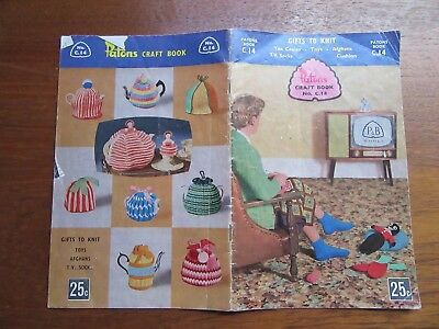 VINTAGE PATONS KNITTING CRAFT BOOK - No C.14 - GIFTS TO KNIT - CUSHIONS, TOYS, S