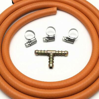 60 degree gas hose pipe connector 10mm. LPG hose 3 way Fulham nozzle