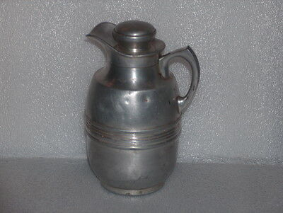 VINTAGE METAL/ALUMINUM JUG THERMOS COOLER, MADE IN GERMANY, 1950s
