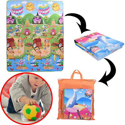 Baby Kids Foam Play Mat Crawling Educational Game Floor Activity Picnic Carpet