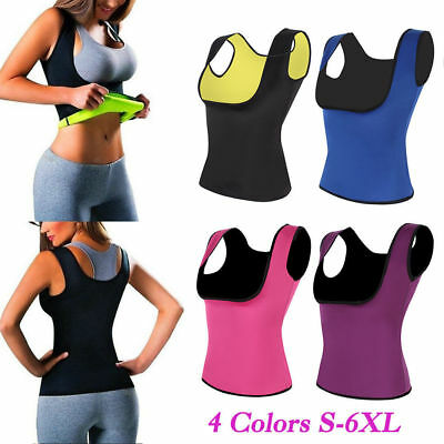 Women Sweat Sauna Body Shaper Neoprene Waist Trainer Slimming Vest Shapewear 6XL