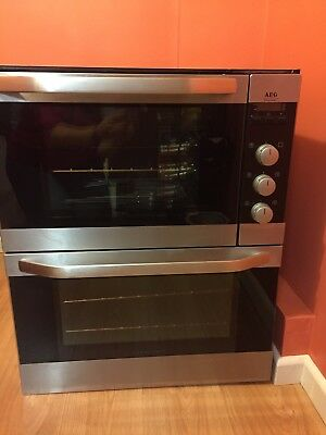 Aeg Electrolux Competence U3100 4 Built Under Double Oven In Brushed