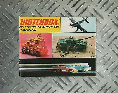 1974 Usa Edition Matchbox Lesney Catalogue 1-75 Super Kings Speed Kings Cases