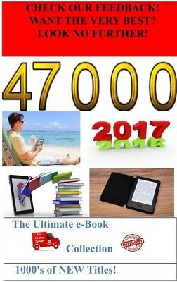 47000 KINDLE EBOOK COLLECTION ON 6 x DVD's KINDLE MOBI *THE VERY BEST*