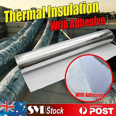 Perforated Reflective Foil Attic Loft Insulation W/Adhesive Shed Duct Pipe Wrap