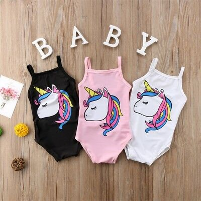 Baby Girl Swimsuit Unicorn Swimwear Tankini Bikini Bowknot Bathing Suit Newborn