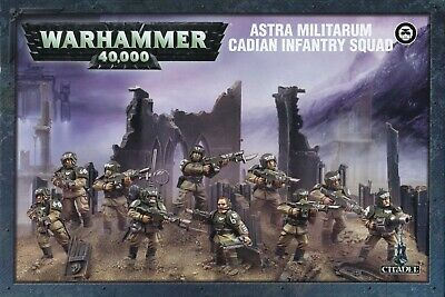 Astra Militarum Cadian Infantry Squad Games Workshop Warhammer 40,000 Brand New