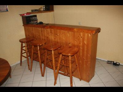 Kellerbar Theke bar kellerbar theke tresen holz massiv 4 barhocker regal top