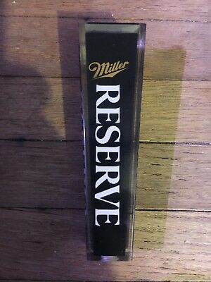 Miller Reserve Beer Tap Handle Vintage And New! (Never used)
