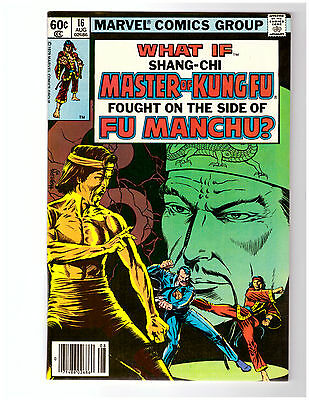WHAT IF #16 VF+ condition MARVEL comic with SHANG-CHI MASTER OF KUNG FU