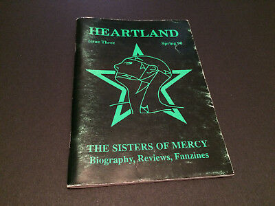The Sisters Of Mercy Heartland Fan Club Official Magazine Fanzine Issue 3 1990