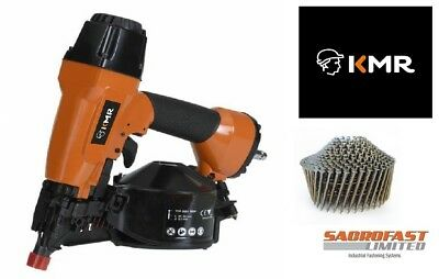 Kmr 3551 Air Coil Nailer With 1 Box 27Mm Coil Nails